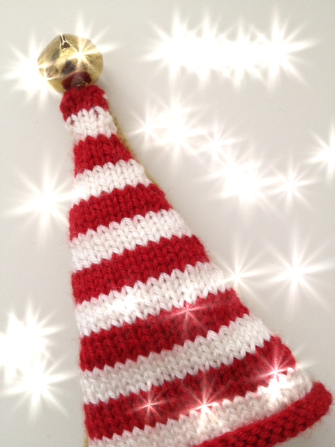 Sparkly stripey xmas hat
